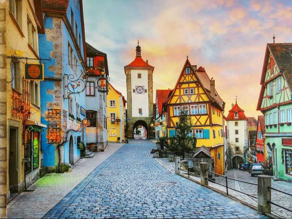 Old Street in Bavaria Germany